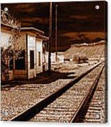 Rails West Acrylic Print
