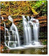 Wyandot Falls Ricketts Glen Acrylic Print