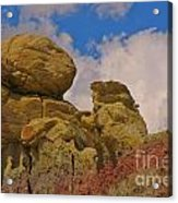 Wyoming Badlands Rock Detail Two Acrylic Print