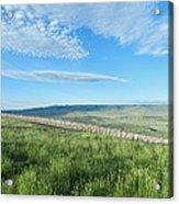 Wyoming Snow Fence Acrylic Print
