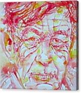 Wystan Auden  Watercolor Portrait Acrylic Print
