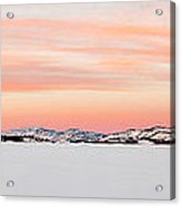 X-country Skier On Lake Laberge Acrylic Print