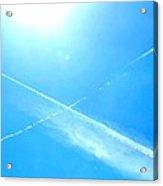 X In The Sky Acrylic Print