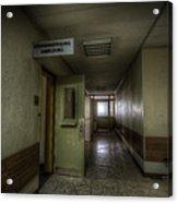 X Ray Waiting Room. Acrylic Print