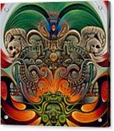 Xiuhcoatl The Fire Serpent Acrylic Print by Ricardo Chavez-Mendez