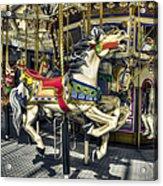 Xmas Carousel Acrylic Print