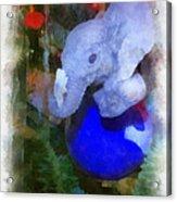 Xmas Elephant Ornament Photo Art 02 Acrylic Print