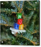 Xmas Noel Ornament Photo Art 01 Acrylic Print