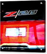 Xxl Chevrolet 2014 Z28 Tail Light Acrylic Print