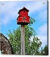Yachats Red Birdhouse Acrylic Print