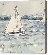 Yacht At Arcachon Acrylic Print