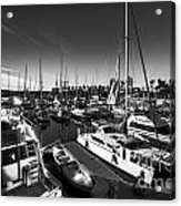 Yacht At The Pier  Acrylic Print