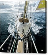 Yacht Sailing On The Southern Ocean Acrylic Print