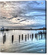 Yacht Storming Morning Acrylic Print