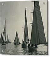 Yachting At Cowes�all They Wan - Is A Breeze Acrylic Print