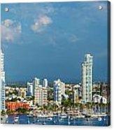 Yachts And Modern Cartagena Acrylic Print