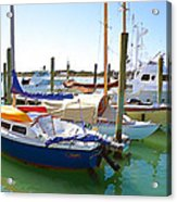 Yachts In A Port 4 Acrylic Print