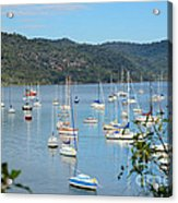 Yachts In A Quiet Estuary Acrylic Print