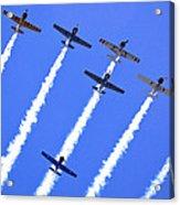 Yak 52 Formation Acrylic Print by Phil 'motography' Clark