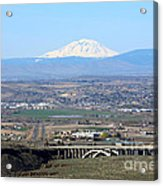 Yakima Valley Outlook With Mount Adams Acrylic Print