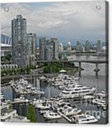 Vancouver From Yale Town Acrylic Print