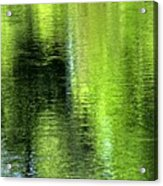 Yamhill River Abstract 24831 Acrylic Print
