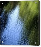 Yamhill River Abstract 24849 Acrylic Print