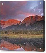 Yamnuska And Reflection  Acrylic Print