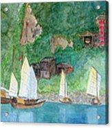 Yangtze Boats Acrylic Print