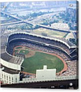 Yankee Stadium Aerial Acrylic Print by Retro Images Archive
