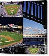 Yankee Stadium Collage Acrylic Print by Allen Beatty