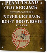 Yankees Peanuts And Cracker Jack  Acrylic Print