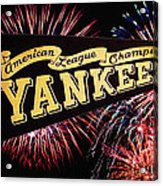Yankees Pennant 1950 Acrylic Print by Bill Cannon