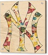 Yankees Vintage Art Acrylic Print