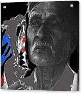Yaqui Pascola Dancer Smoking Cigarette New Pascua Arizona 1969-2013 Acrylic Print
