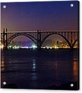 Yaquina Bay Bridge At Night Acrylic Print