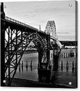 Yaquina Bay Bridge Acrylic Print by Benjamin Yeager