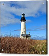 Yaquina Bay Lighthouse In Oregon Acrylic Print