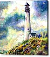 yaquina Head Lighthouse Acrylic Print by Ann  Nicholson