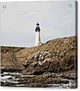 Yaquina Head Lighthouse From The Beach Acrylic Print