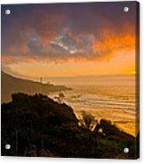 Yaquina Head Lighthouse Sunset. Acrylic Print