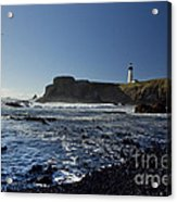 Yaquina Lighthouse And Beach No 1 Acrylic Print
