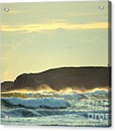 Yaquinas Rolling Waves Acrylic Print by Sheldon Blackwell