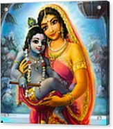Yashoda And  Krishna Acrylic Print