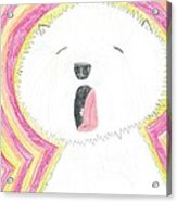 Yawning Doggie Acrylic Print