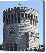Ye Old Castle Clock Tower Acrylic Print