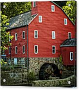 Ye Old Red Mill Acrylic Print by Wayne Gill