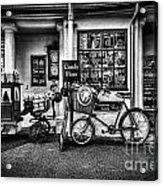 Ye Olde Sweet Shoppe Mono Acrylic Print