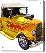 Yellow 1928 Hotrod Pickup Truck  Acrylic Print