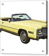 Yellow 1975 Cadillac Eldorado Convertible Acrylic Print